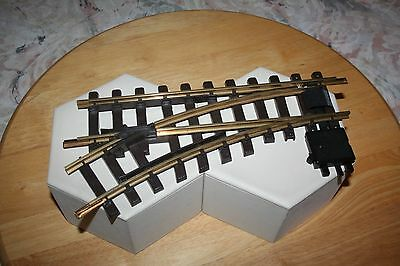 Lgb 1 Piece Left Switch Track Item #1210 G Scale Brass Rails Model Rr Train Pr