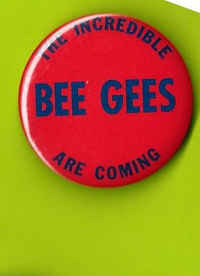 the Bee Gees 1977 advance movie badge button pinback  Y Saturday Night Fever