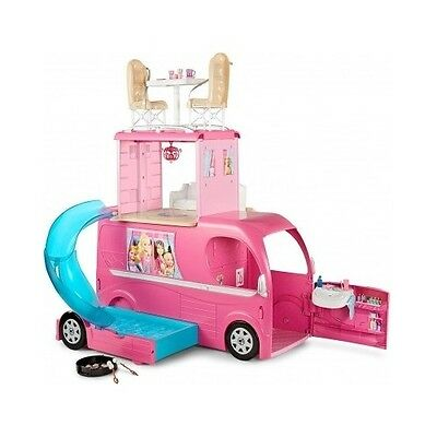 Barbie Camper Pop Up Pink Vehicle Van Motor Home Accessories Pool Birthday Gift