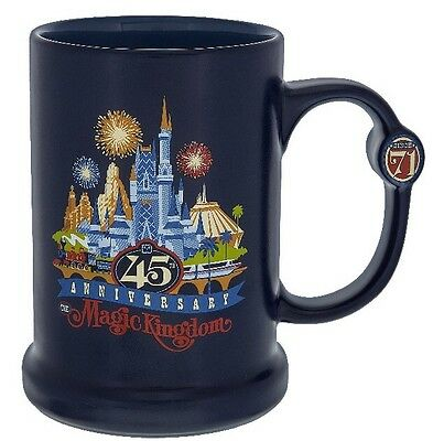 Walt Disney World Magic Kingdom 45th Anniversary Coffee Cup Mug New