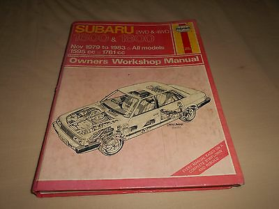 HAYNES MANUAL FOR SUBARU 1.6 & 1.8 NOV 79 - 83 Barn find