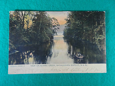 Early 1900's N.s.w  Postcard View On Nowra Creek, Shoalhaven District, N.s.w