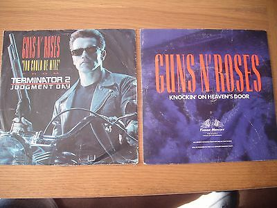 "guns n roses you could be mine knockin on heavens door 7"" singles"