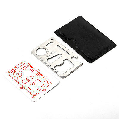 10 in 1 Multi Tool Card Gadget Camping Tool Outdoor  Survival Credit Card Size