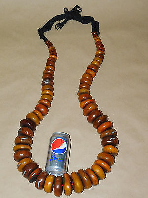 XX-LARGE Best tribal Jewelry African Berber resin trade beads  BIG Necklace