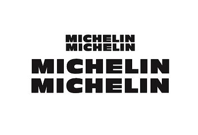 Michelin Rim Decal stickers 2x (200mm x 50mm) 2x (100mm x 25mm)