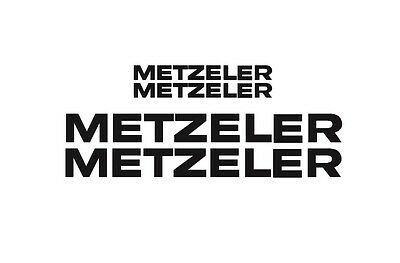 Metzeler Rim Decal stickers 2x (200mm x 50mm) 2x (100mm x 25mm)