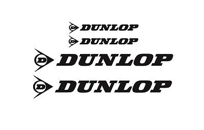 Dunlop Rim Decal stickers 2x (200mm x 50mm) 2x (100mm x 25mm)