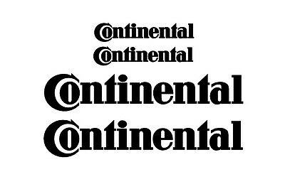 Continental Rim Decal stickers 2x (200mm x 50mm) 2x (100mm x 25mm)