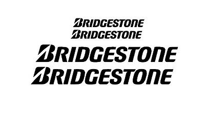 Bridgestone Rim Decal stickers 2x (200mm x 50mm) 2x (100mm x 25mm)