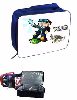 Dan Tdm #1 Personalised Blue Insulated Lunch Bag