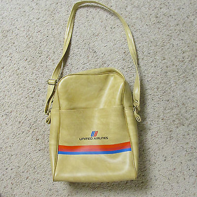 Vintage United Airlines Stewardess Carry On Bag Shoulder Tote Nice Condition