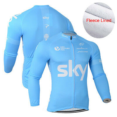 New Men Cycling Jersey Winter Fleece Thermal Bike Race Long Sleeve Shirt Sweater