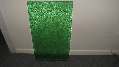 Vintage Green Glass Sheets X 4  Would Suite Windows , Doors , Lead Lighting