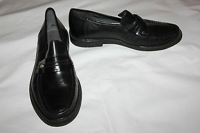 Mens Black Leather Shoes Size 11 Nice Quality Slip On