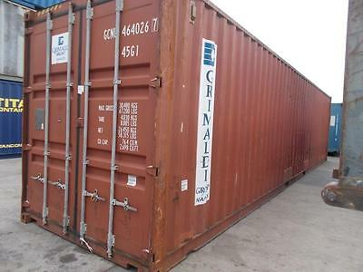 Shipping Containers 40Ft High Cubes-Hiab Delivery Call