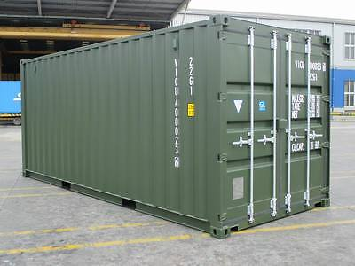 Shipping Containers 20 Foot New Build Green Ral6007 - 2016 High Spec