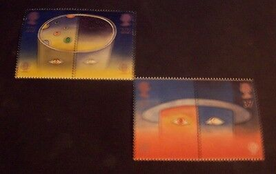 G B 1991 set of 4 mint stamps Europe in Space