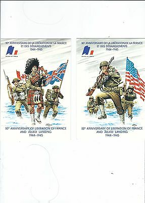 50Th Aninniversay Liberation Of France  3 Postcards