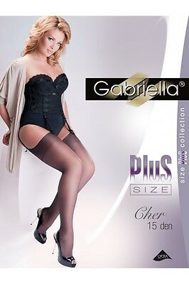 Plus Size Stockings Sheer 15 Den Gabriella Cher Xl Xxl