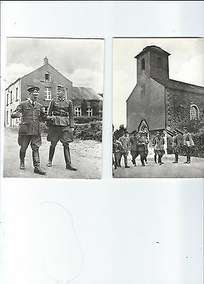 2 Reproduction Of 1940 Photos On Postcard  German Troops
