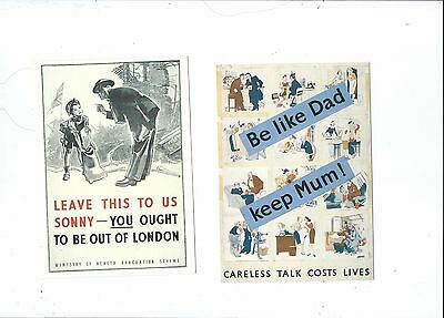 Reproductions Of Wartime Posters On 3 Postcards