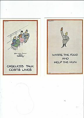REPRODUCTIONS OF WARTIME POSTERS ON 3 POSTCARDS lot2