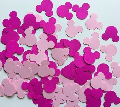 Mickey Mouse Punch Scrapbooking 100 Pcs Pink Tone Colour Cardstock Confetti