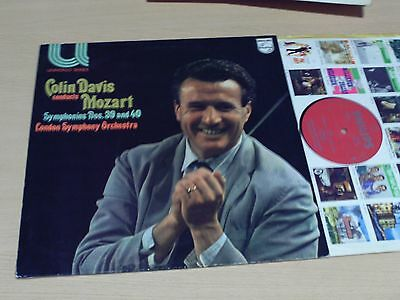 Mozart - Colin Davis Conducts Symphonies Nos. 39 And 40 - Lp - Philips 6580 029