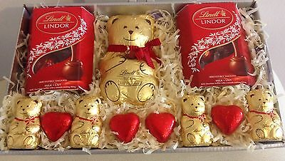 Lindt milk chocolate hamper sweets Valentines gift box Birthday Get Well
