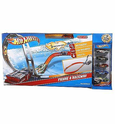 HOT WHEELS - FIGURE 8 MOTORISED RACEWAY with 6 CARS *BRAND NEW IN BOX*