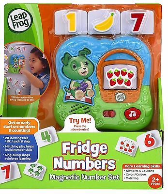 Leap Frog - Magnetic Fridge Numbers Set To Develop Learning Skills *new In Box*