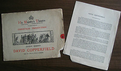 His Majesty's Theatre - David Copperfield 1915 Programme