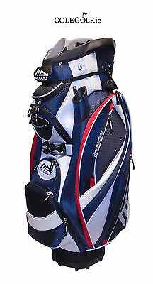 MD Golf Deluxe Cart Golf Bag - Navy/Red/White