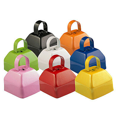 GoGo Cowbells Plain Cow Bell Assorted Colors 8 Pack