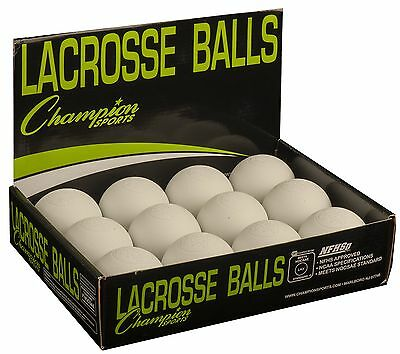 Champion Sports Official Lacrosse Balls - Pack of 12 White 12 Balls