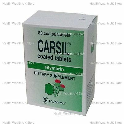 CARSIL by SOPHARMA 80 tab Silymarin - DETOX, Liver Protection Natural Product