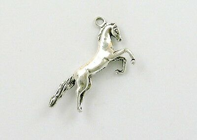 925 Sterling Silver Rearing Horse Charm, Western & Horse Theme