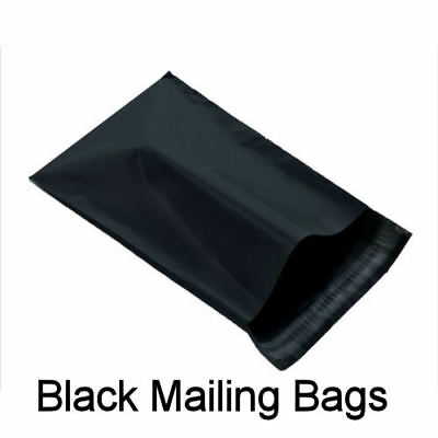 """5 BLACK Mailing Postage Parcel Post Bags 12"""" x 16"""" Self Seal Packaging 305x406"""
