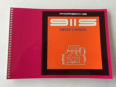 Genuine Porsche 911S 2.2 Litre 1969/1970 Drivers Manual