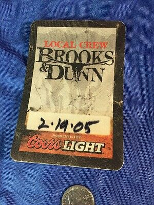 Brooks & Dunn 2005 Local Crew Working Concert Backstage Pass Colors Light