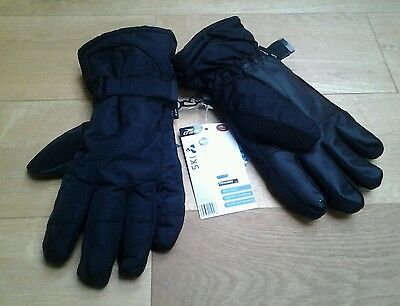 Black ski gloves - BNWT - thinsulate - size small (adult)