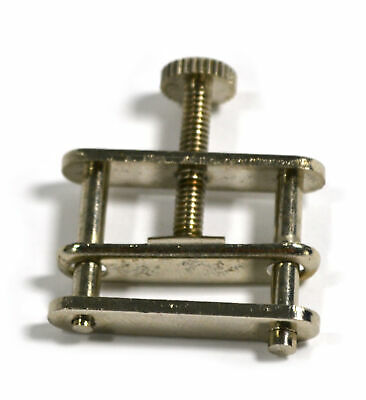 """Large (1 5/16"""") Nickel Plated Brass Tube Clamp, Hoffman Style - Closed - 10 pk"""