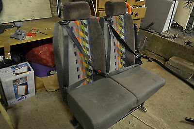 twin seats from Iveco minibus with seatbelts and quick release