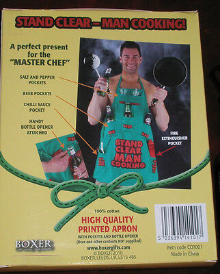 Apron - Stand Clear Man Cooking