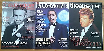 Selection of Individual theatre related magazines theatregoer ATG magazine