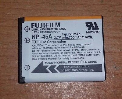 Original FUJIFILM NP-45 Battery pack OEM Fuji Z JX digital camera NP 45A NP45