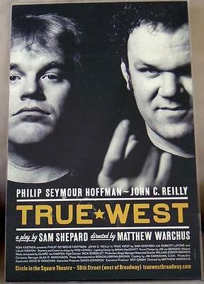 TRUE WEST, Starring Philip Seymour Hoffman, Broadway Theater Poster Lobby Card