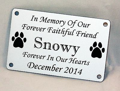 Personalised Engraved Bench Pet Memorial Plaque