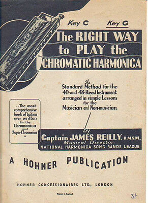 The Right Way To Play The Chromatic Harmonica. Method For 40 & 48 Reed Key Of G